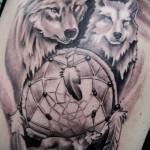 тату ловец снов и волк - фото пример от 11122014 № 3