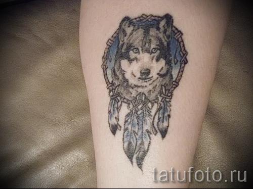 тату ловец снов и волк - фото пример от 11122014 № 4