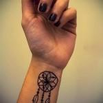 тату ловец снов на руке - фото пример от 11122014 № 13