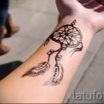 тату ловец снов на руке - фото пример от 11122014 № 3