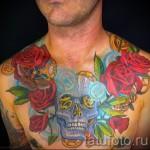 тату на груди розы - фото вариант от 15122015 № 19