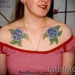 тату на груди розы - фото вариант от 15122015 № 20