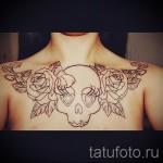 тату на груди розы - фото вариант от 15122015 № 23