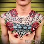 тату на груди розы - фото вариант от 15122015 № 28