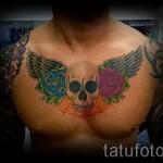 тату на груди розы - фото вариант от 15122015 № 29