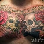 тату на груди розы - фото вариант от 15122015 № 36