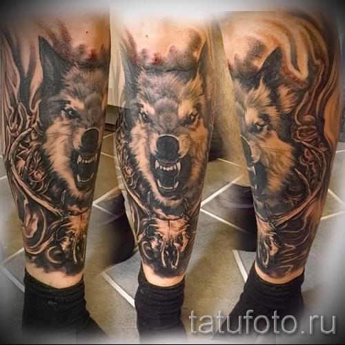 Мужские татуировки на икры 42