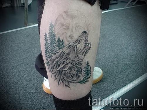 тату на икре ноги волк - фото пример от 20122015 № 9