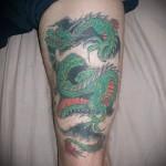тату на икре ноги дракон - фото пример от 20122015 № 8