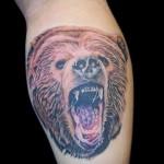 тату на икре ноги медведь - фото пример от 20122015 № 2