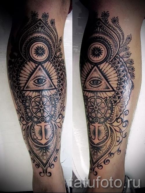 Мужские татуировки на икры 12