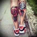 тату на икре ноги розы - фото пример от 20122015 № 11