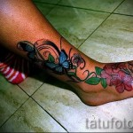 тату на ноге женские на щиколотке - пример фото 1