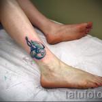 тату на ноге женские на щиколотке - пример фото 2