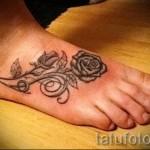 тату на ноге розы - фото вариант от 15122015 № 10