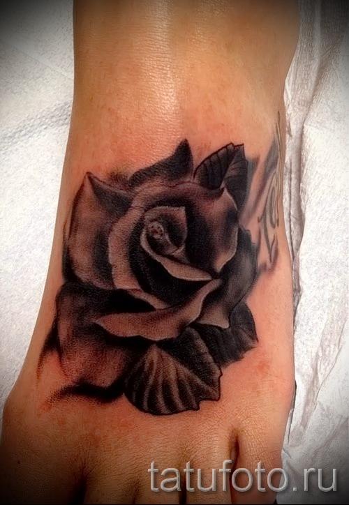 тату на ноге розы - фото вариант от 15122015 № 11