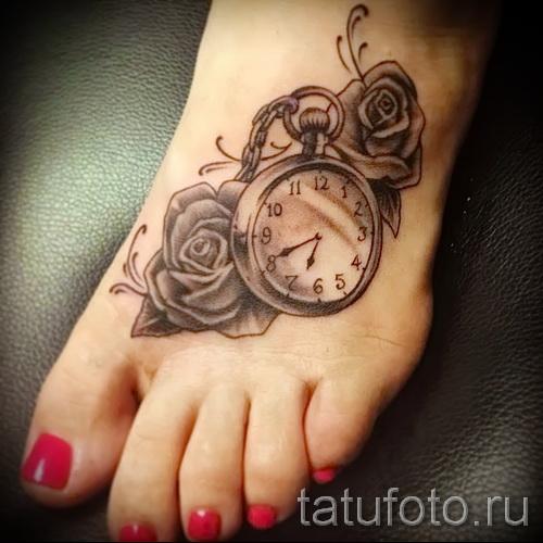 тату на ноге розы - фото вариант от 15122015 № 12