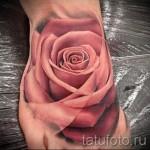 тату на ноге розы - фото вариант от 15122015 № 13