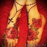 тату на ноге розы - фото вариант от 15122015 № 14