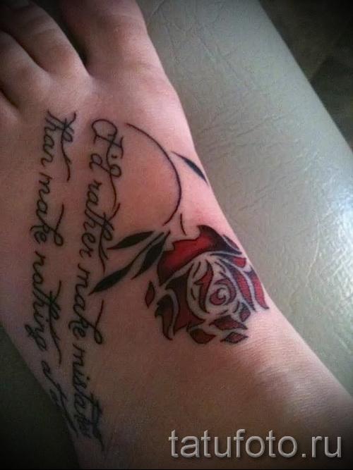 тату на ноге розы - фото вариант от 15122015 № 16