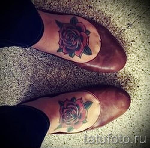 тату на ноге розы - фото вариант от 15122015 № 22