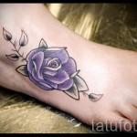 тату на ноге розы - фото вариант от 15122015 № 25