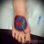 тату на ноге розы - фото вариант от 15122015 № 26