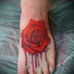 тату на ноге розы - фото вариант от 15122015 № 27