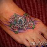 тату на ноге розы - фото вариант от 15122015 № 28