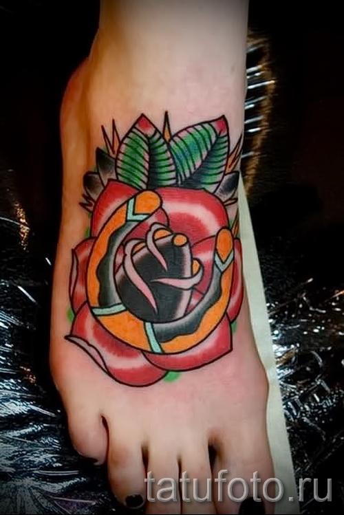 тату на ноге розы - фото вариант от 15122015 № 30