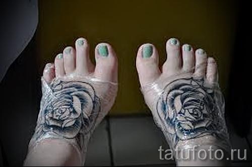 тату на ноге розы - фото вариант от 15122015 № 31