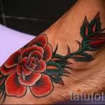 тату на ноге розы - фото вариант от 15122015 № 33