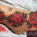 тату на ноге розы - фото вариант от 15122015 № 35