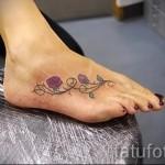 тату на ноге розы - фото вариант от 15122015 № 7