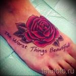 тату на ноге розы - фото вариант от 15122015 № 8