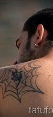тату паутина на плече – фото готовой татуировки – 20122015 № 1