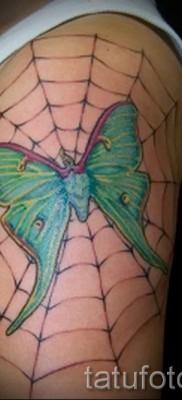 тату паутина на плече – фото готовой татуировки – 20122015 № 11