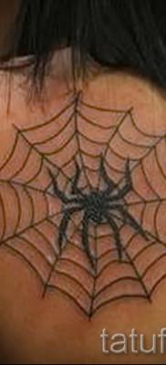 тату паутина на плече – фото готовой татуировки – 20122015 № 3