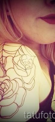 тату паутина на плече – фото готовой татуировки – 20122015 № 5