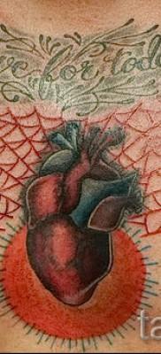 тату паутины на груди – фото готовой татуировки – 20122015 № 10