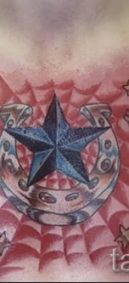 тату паутины на груди – фото готовой татуировки – 20122015 № 17