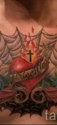 тату паутины на груди – фото готовой татуировки – 20122015 № 3