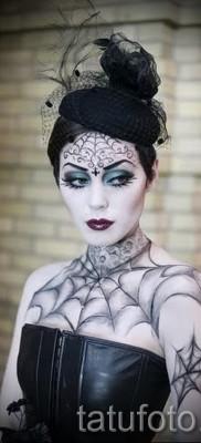 тату паутины на груди – фото готовой татуировки – 20122015 № 5