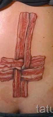тату перевернутый крест – пример на фото от 08122015 № 36