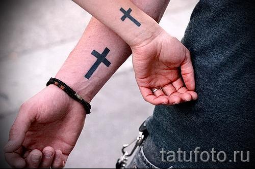 тату перевернутый крест - пример на фото от 08122015 № 39