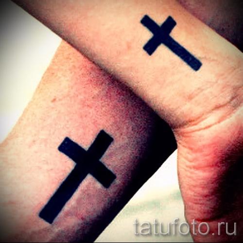 тату перевернутый крест - пример на фото от 08122015 № 50