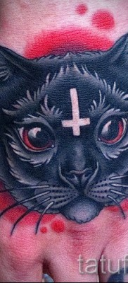 тату перевернутый крест – пример на фото от 08122015 № 6