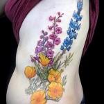 тату полевые цветы - фото вариант от 21122015 № 2