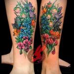тату полевые цветы - фото вариант от 21122015 № 3