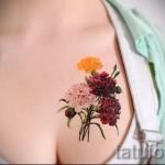 тату полевые цветы - фото вариант от 21122015 № 4